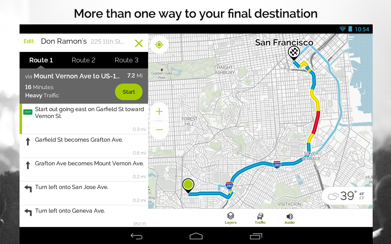 Mapquest Gps Navigation Maps Screenshot