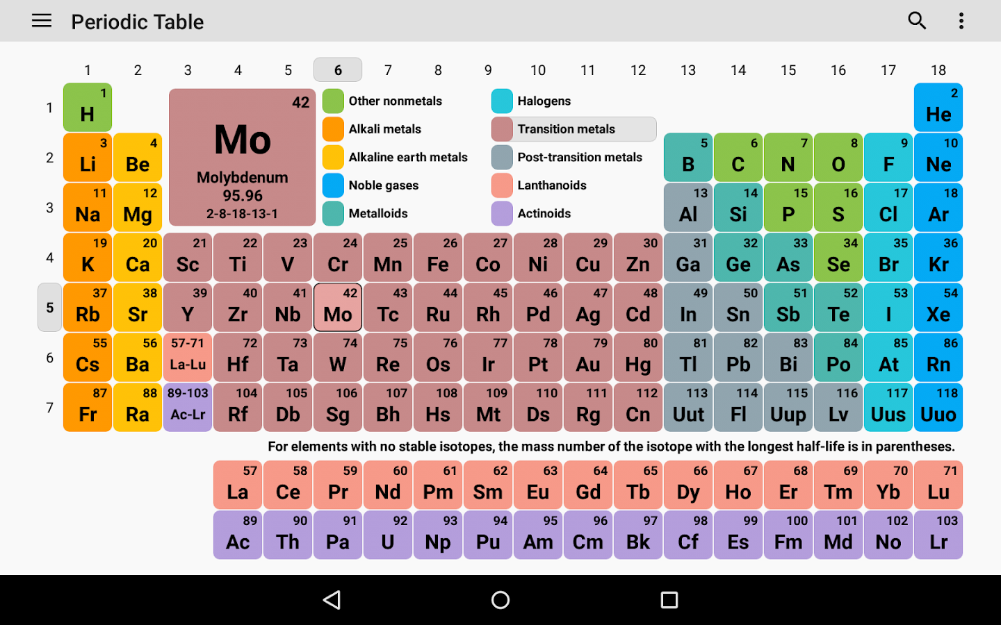Periodic table 2017 chemistry in your pocket 560 apk download 560 screenshot 7 periodic table 2017 chemistry in your pocket gamestrikefo Gallery