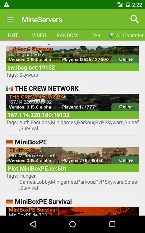 minecraft apk hunger games server
