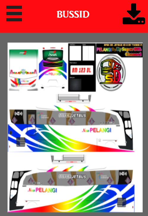 Livery Bussid Putra Pelangi Hd 2 0 Apk Download Android