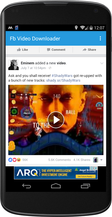 fb video downloader online android