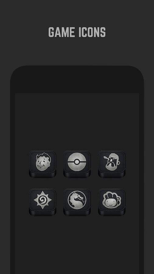 Black Icon Pack  Screenshot