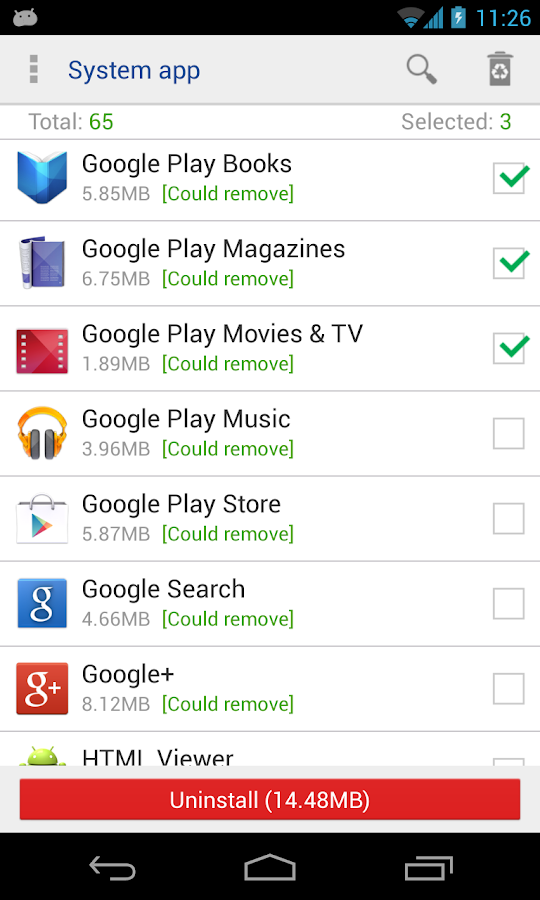 System app remover (root needed) 7 1 APK Download - Android