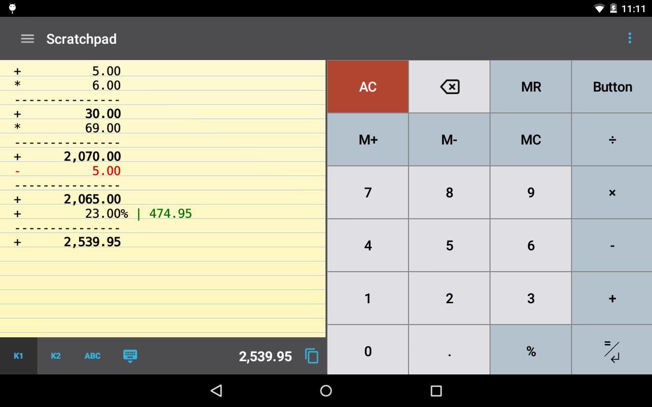 Roman numerals calculator -  Calctape Calculator With Tape Screenshot 12