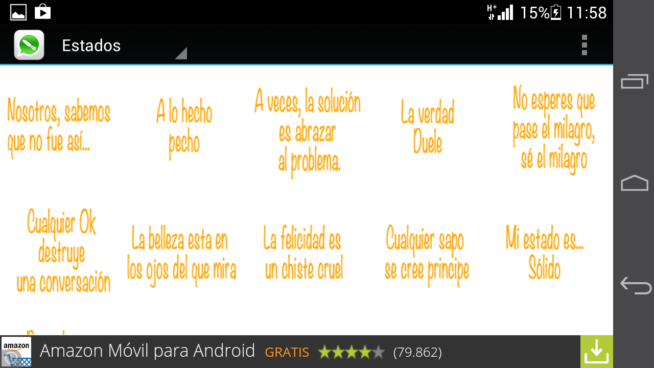 Estados y frases para WhatsApp 1 1 screenshot 8