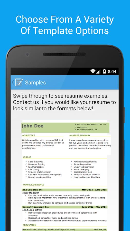 resume builder pro screenshot 4