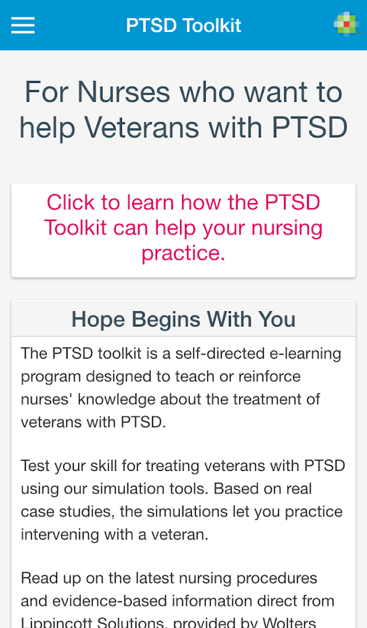 case study of soldier with ptsd