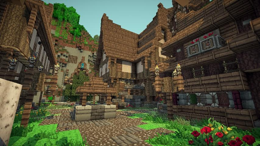 Средневековая деревня Карта для Minecraft 1.7.10/1.7.9/1.7 ...