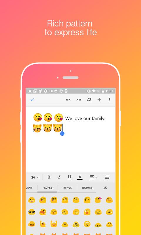 Cent Touchpal Keyboard Cute Emoji — BCMA