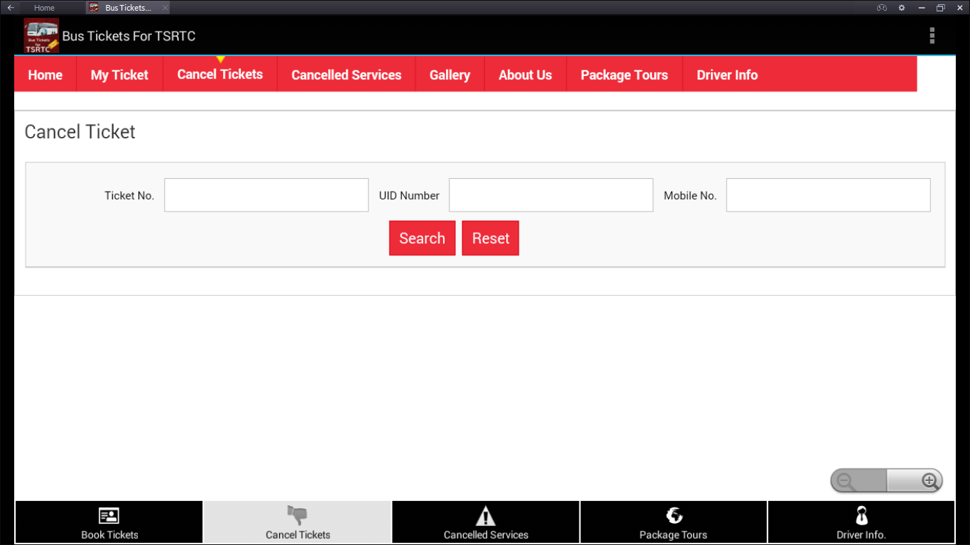 TSRTC bus online booking