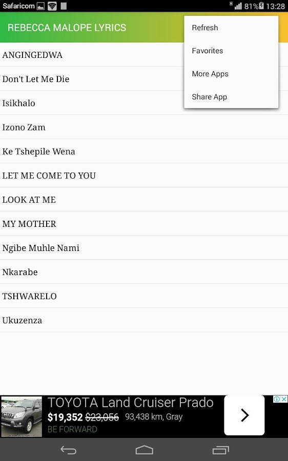 Rabecca Malope Lyrics 1 0 APK Download - Android Music