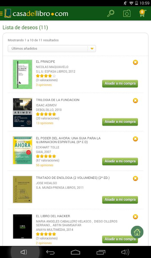 Casa del libro libros ebooks 2 0 8 apk download - Casa del libro rivas ...