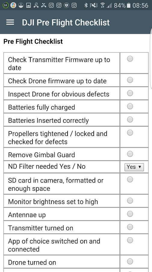 Dji Pre Flight Checklist 2 4 Apk Download Android Tools Apps