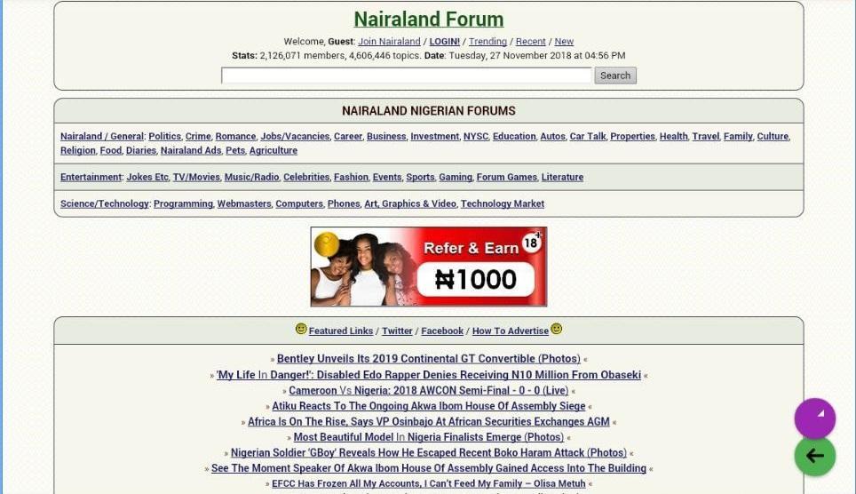 Www nairaland com topics
