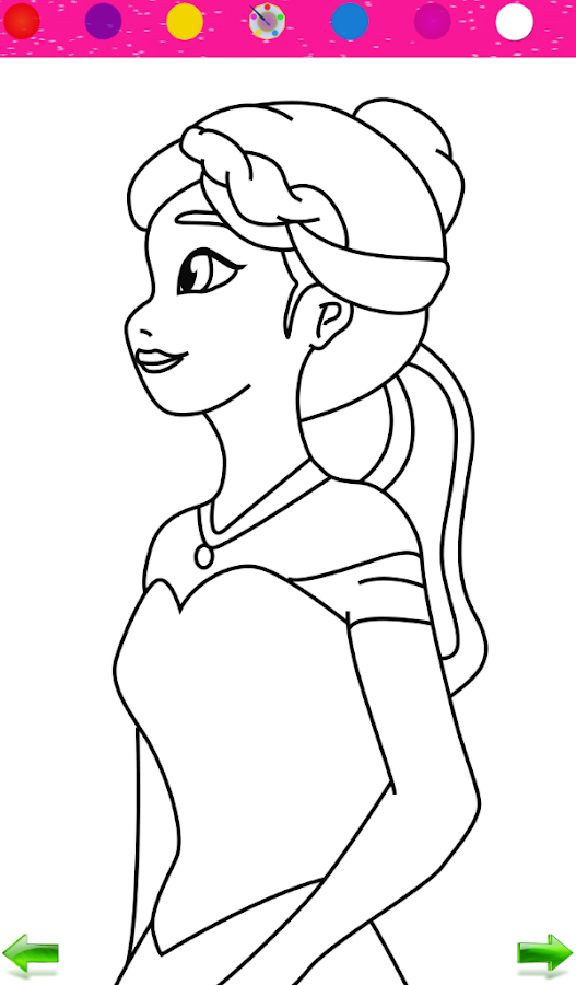 Line Art Apk : Frozen princess coloring apk download android