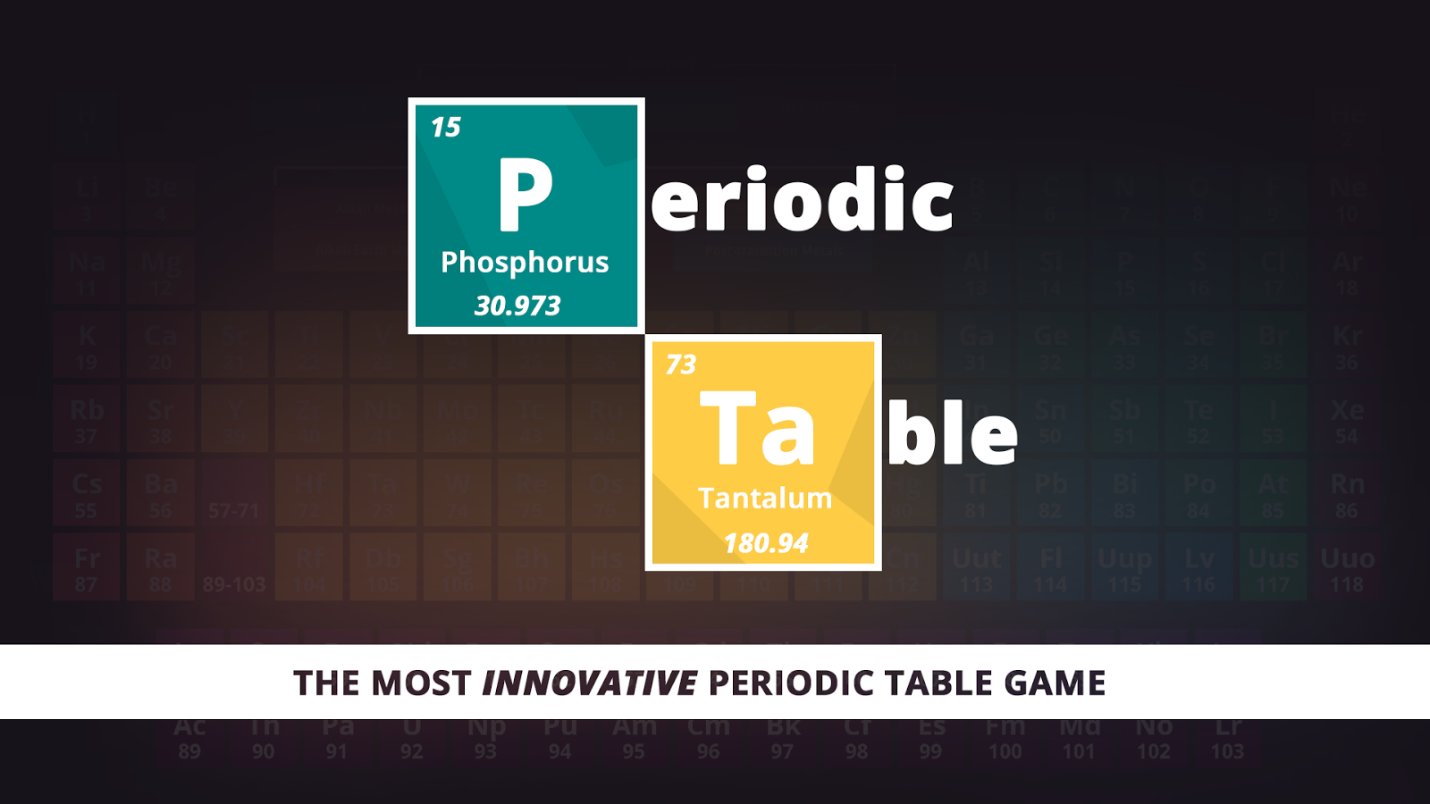 Periodic table game 104 apk download android educational games periodic table game 104 screenshot 7 urtaz Image collections