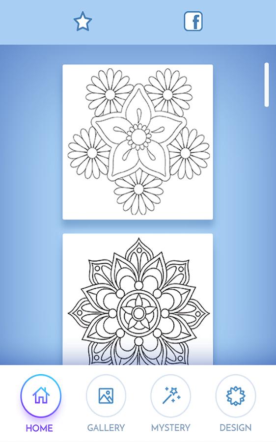 Flowers Mandala Coloring Book Screenshot 1