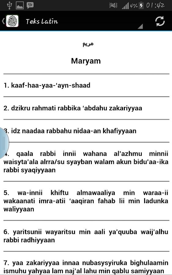 Surah Maryam Terjemahan 10 Apk Download Android Boeken