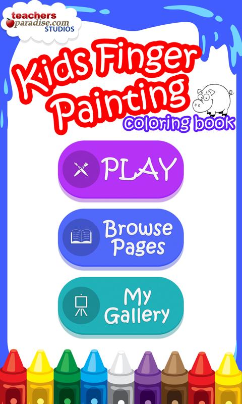 Kids Finger Painting Coloring 19 Screenshot 1