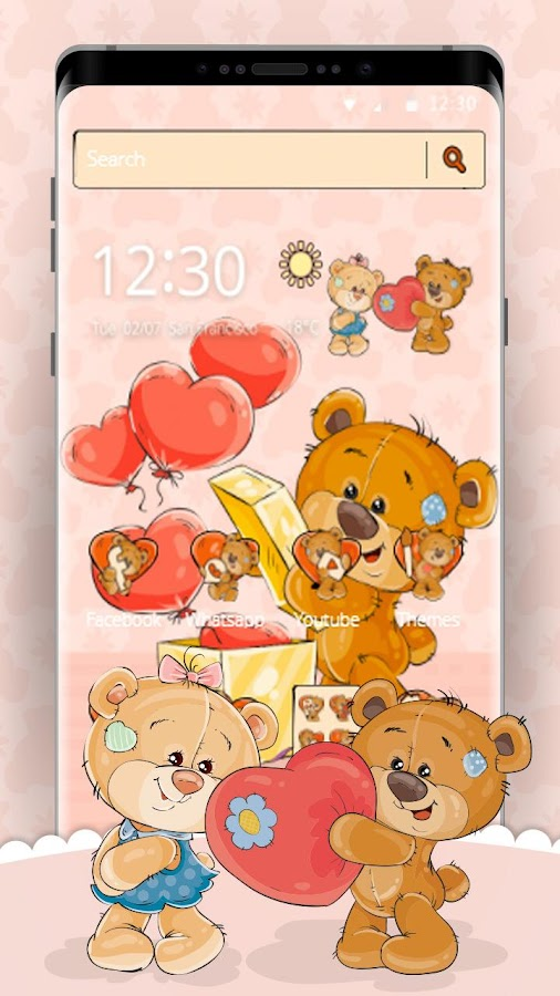 Teddy Love Theme 1 1 4 APK Download - Android Personalization Apps