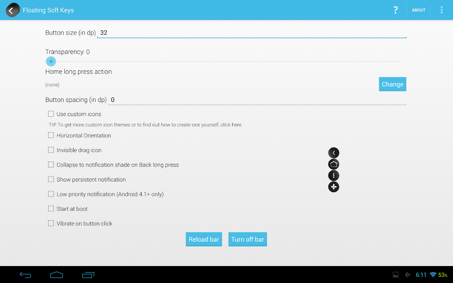 Android soft keys apk apps