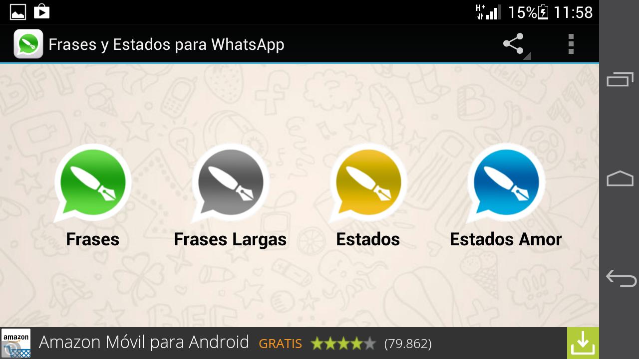 Estados y frases para WhatsApp 1 1 screenshot 5