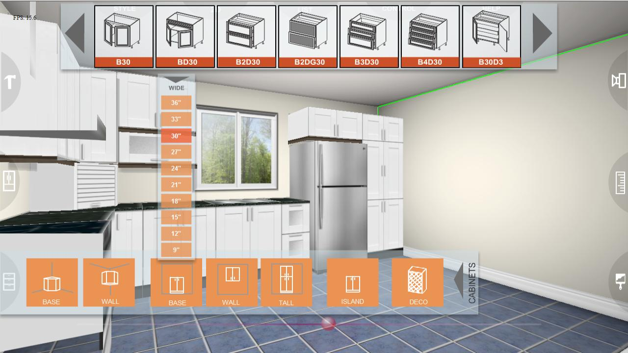 Udesignit kitchen 3d planner 330 apk download android for 3d küchenplaner download