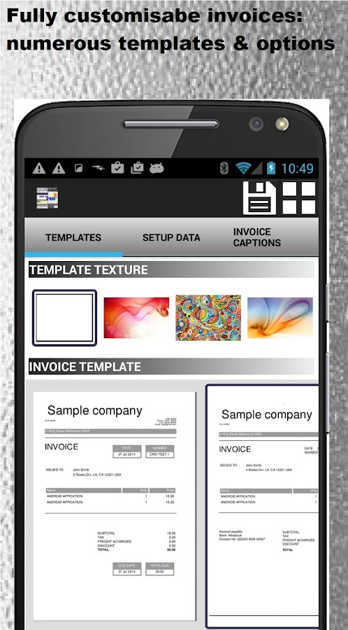 Create Receipts Small Business Accounting Pro  Apk Download  Android  Stripe Send Invoice Excel with Clay County Missouri Personal Property Tax Receipt Pdf  Small Business Accounting Pro  Screenshot   Landlord Receipt Template Excel