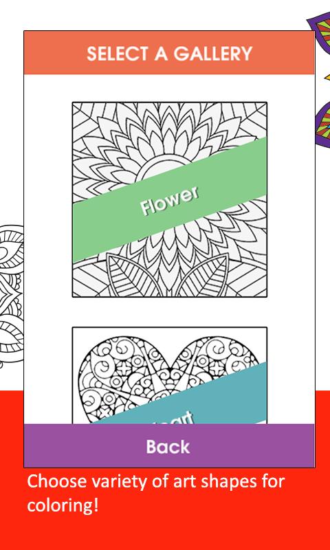 Adult Coloring BookGarden Screenshot 2