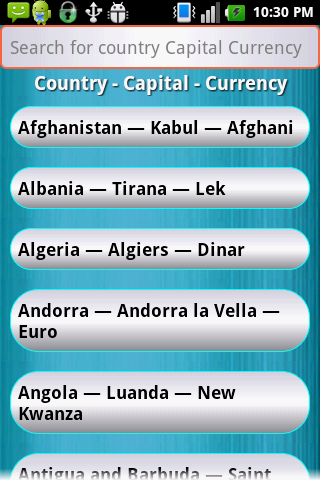 Country Capital Currency APK Download Android Education Apps - List of world countries and capitals