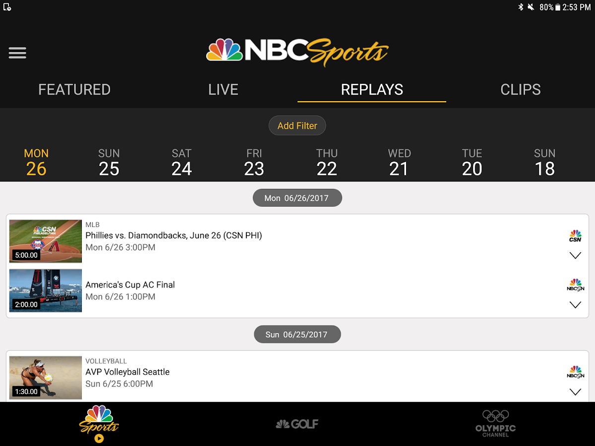 Nbc Sports 5 7 Apk Download Android Sports Games