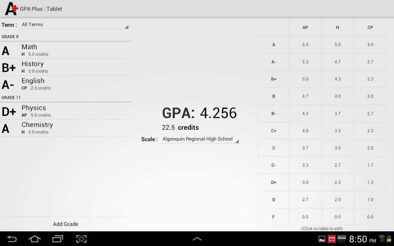 Gpa Plus (free) 10 Screenshot 8
