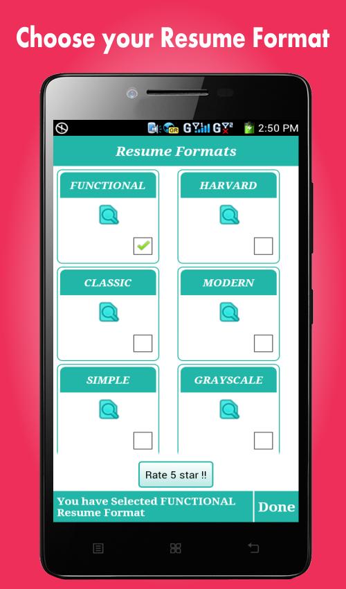 smart resume builder cv free 396 screenshot 4