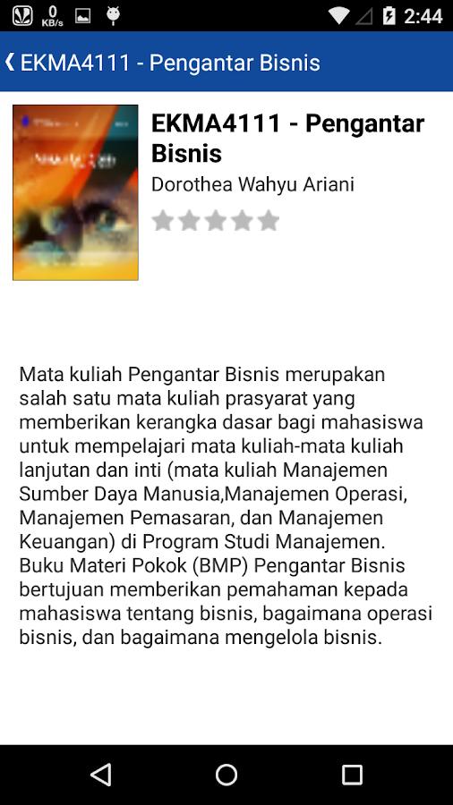 Ba Digital Universitas Terbuka  Apk Download Android Books Reference Apps