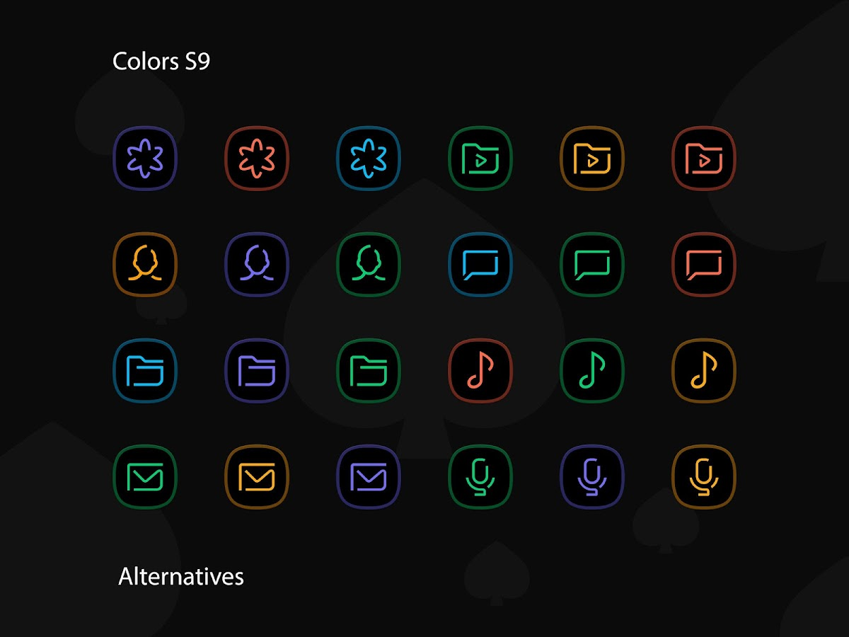 Colors Ux Black Icon Pack