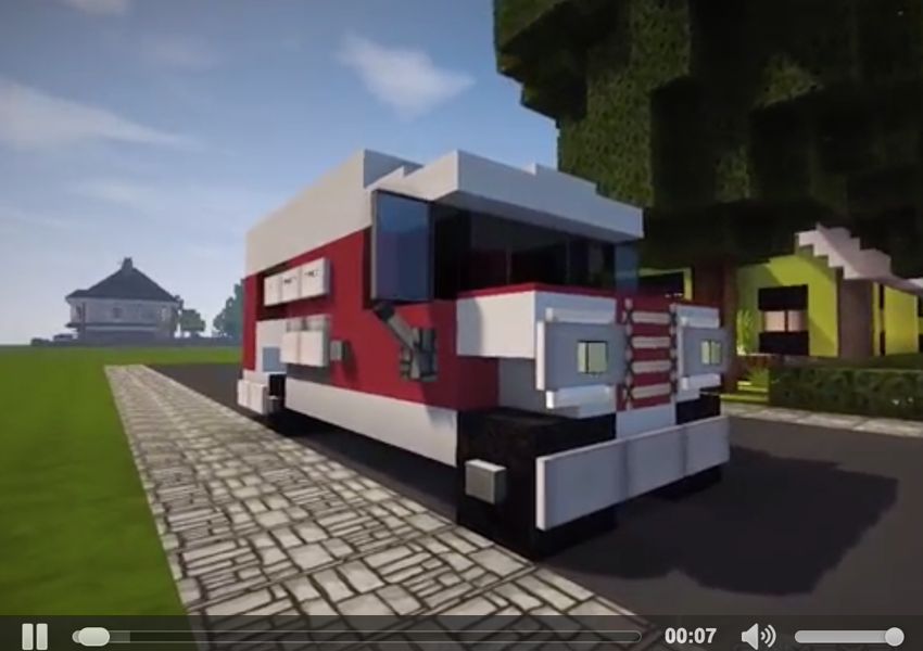 How to build a sports car in minecraft