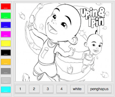 Upin And Ipin Paint 10 Screenshot 1