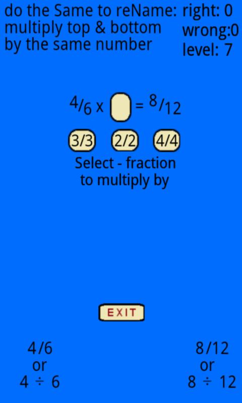 Fraction Tutor 1.8 APK Download - Android Education Apps