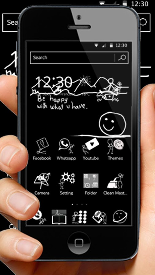 Black and White Blackboard Theme 1 1 20 APK Download - Android