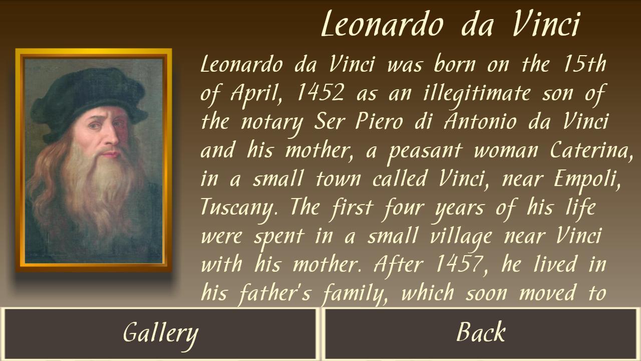 Leonardo da Vinci gallery 1.0 APK Download - Android Education ...