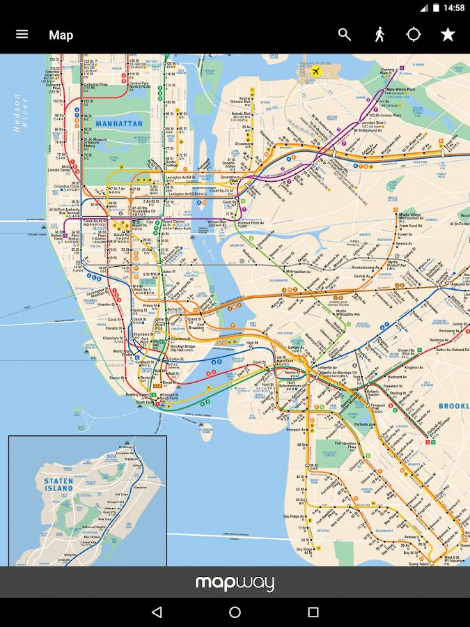 New York Subway MTA Map And Routes Of NYC Subway APK - Nyc metro map
