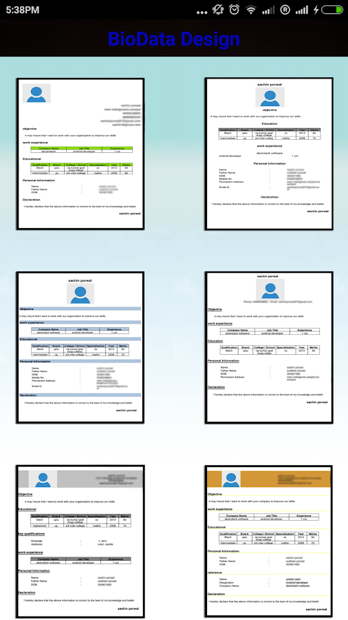 professional biodata maker pro 11 screenshot 3