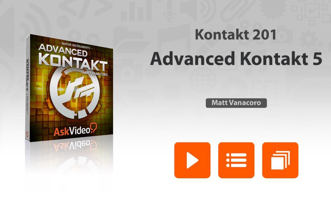 Kontakt 5 manual download - Advanced Course For Kontakt 5 1 1 Screenshot 1