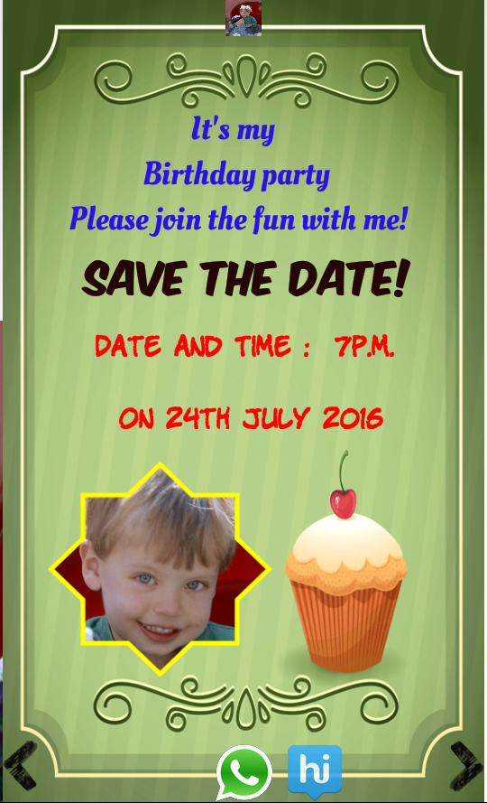 Birthday invitation with photo 10009 apk download android birthday invitation with photo 10009 screenshot 3 stopboris Gallery