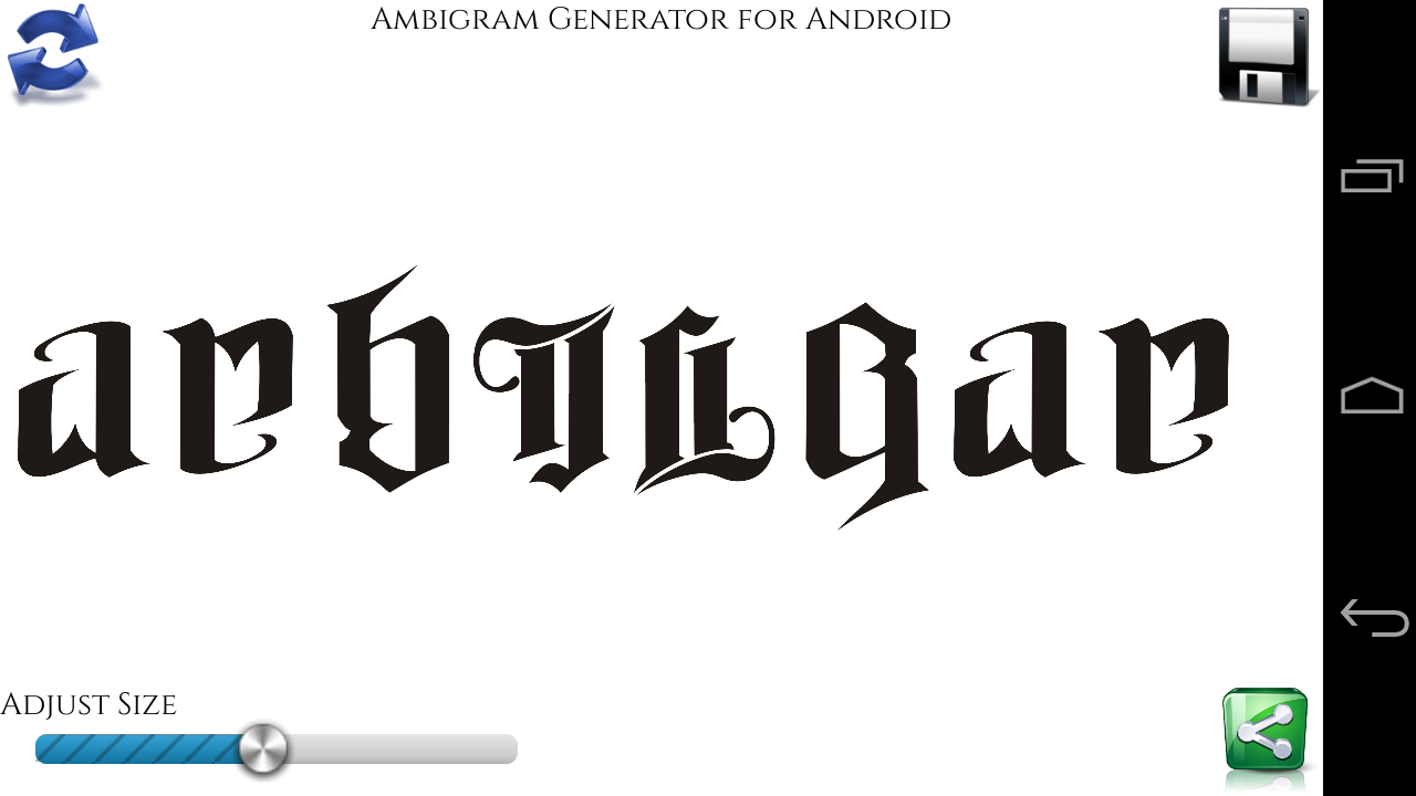 Ambigram Generator 2.1 APK Download - Android ... | 1280 x 720 png 79kB