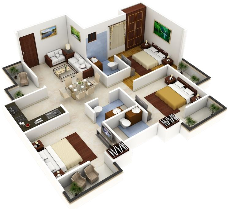 Best 3d home plan 3 0 apk download android lifestyle apps for Plans en 3d