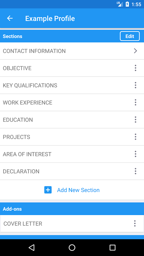 resume builder pro 5 minutes cv maker templates 4 0 2 apk