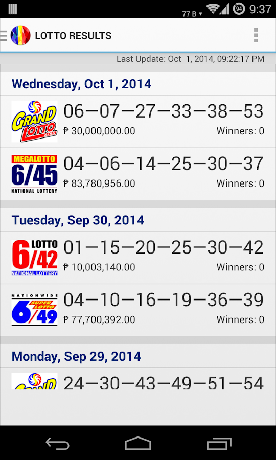 super lotto numbers for today