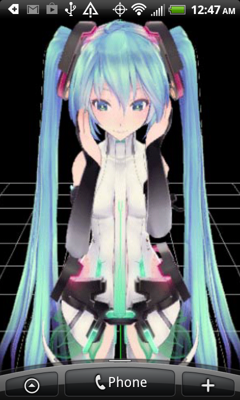 3D Anime Girl Live Wallpaper 5 Screenshot 2