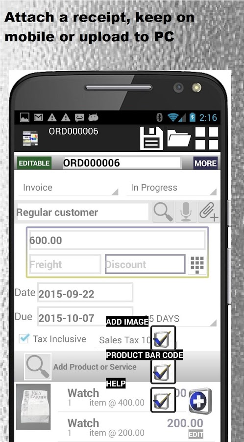 Excel Invoice Template Free Excel Small Business Accounting Pro  Apk Download  Android  Invoice Maker App Word with Sample Of Money Receipt Small Business Accounting Pro  Apk Download  Android Business Apps Home Invoice Word